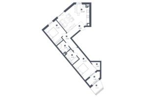 ЖК Малоголосківські пагорби: планування 2-кімнатної квартири 71.96 м²
