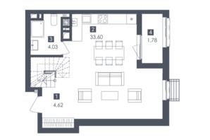 ЖК Малоголосківські пагорби: планування 2-кімнатної квартири 86.3 м²