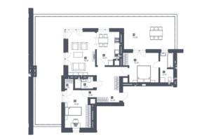 ЖК Малоголосківські пагорби: планування 2-кімнатної квартири 101.4 м²