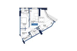 ЖК Manhattan City: планування 2-кімнатної квартири 78.7 м²