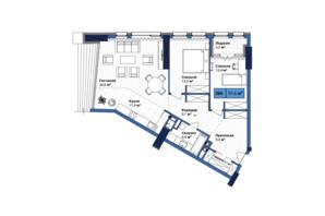 ЖК Manhattan City: планування 3-кімнатної квартири 91.4 м²