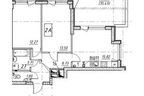 ЖК Manhattan (Манхеттен): планировка 2-комнатной квартиры 92.27 м²