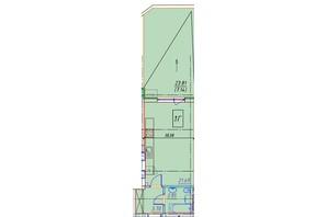 ЖК Manhattan (Манхеттен): планировка 1-комнатной квартиры 37 м²