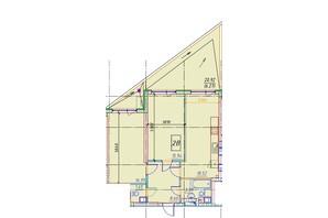 ЖК Manhattan (Манхеттен): планировка 2-комнатной квартиры 76.81 м²