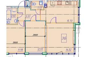 ЖК Manhattan (Манхеттен): планировка 3-комнатной квартиры 66.27 м²