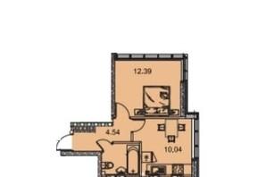 ЖК Manhattan (Манхеттен): планировка 1-комнатной квартиры 31.85 м²