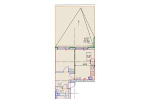 ЖК Manhattan: планування 1-кімнатної квартири 48.93 м²