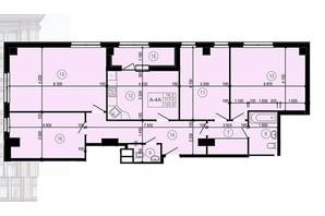 ЖК Манхэттен: планировка 4-комнатной квартиры 122.8 м²