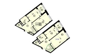 ЖК Манхэттен: планировка 3-комнатной квартиры 98.8 м²