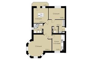 ЖК Марко Поло: планировка 3-комнатной квартиры 104 м²