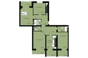 ЖК Марко Поло: планировка 4-комнатной квартиры 132 м²