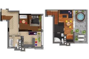 ЖК Медовий сад: планування 2-кімнатної квартири 102.8 м²