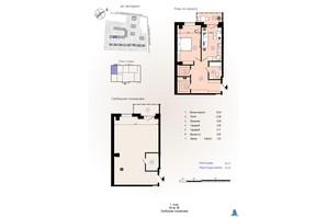 ЖК Меридиан: планування 1-кімнатної квартири 42.95 м²