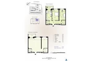 ЖК Меридиан: планування 2-кімнатної квартири 62.97 м²
