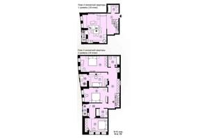 ЖК Меридиан: планування 4-кімнатної квартири 137.38 м²