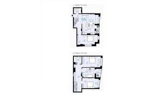 ЖК Меридиан: планування 4-кімнатної квартири 130.59 м²
