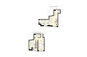 ЖК Меридиан: планування 2-кімнатної квартири 89.19 м²