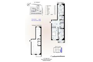 ЖК Меридиан: планировка 1-комнатной квартиры 73.45 м²