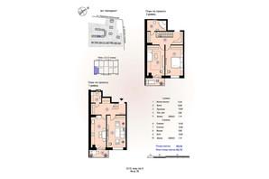 ЖК Меридиан: планировка 3-комнатной квартиры 92.72 м²