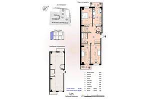 ЖК Меридиан: планировка 1-комнатной квартиры 95.05 м²