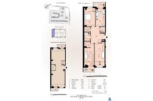 ЖК Меридиан: планировка 3-комнатной квартиры 97.41 м²