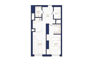 ЖК Metropole: планировка 2-комнатной квартиры 67.49 м²