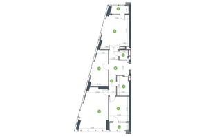 ЖК Метрополіс: планування 3-кімнатної квартири 97.07 м²