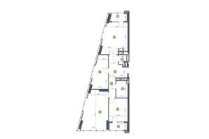ЖК Метрополіс: планування 3-кімнатної квартири 96.54 м²
