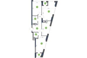 ЖК Метрополіс: планування 3-кімнатної квартири 93.21 м²
