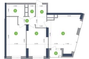 ЖК Метрополіс: планування 2-кімнатної квартири 80.3 м²