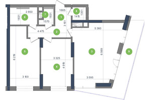 ЖК Метрополіс: планування 2-кімнатної квартири 85.39 м²