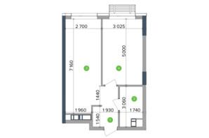 ЖК Метрополіс: планування 1-кімнатної квартири 43.5 м²