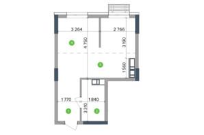 ЖК Метрополіс: планування 1-кімнатної квартири 41.12 м²