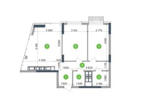 ЖК Метрополіс: планування 2-кімнатної квартири 58.91 м²