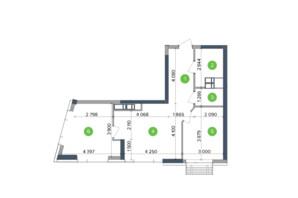 ЖК Метрополіс: планування 2-кімнатної квартири 60.22 м²