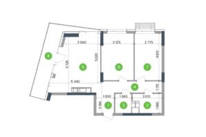 ЖК Метрополіс: планування 2-кімнатної квартири 63.89 м²