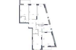 ЖК Метрополис: планировка 4-комнатной квартиры 118.2 м²