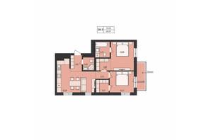 ЖК Mill town: планировка 2-комнатной квартиры 66.91 м²