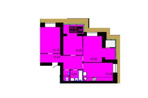 ЖК Millennium Hills: планування 3-кімнатної квартири 84.92 м²