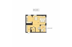ЖК Milltown: планування 2-кімнатної квартири 99.78 м²