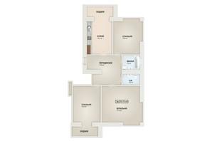 ЖК Містечко Козацьке: планування 3-кімнатної квартири 93.7 м²