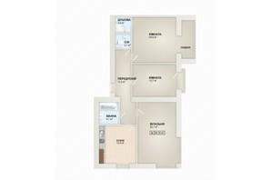 ЖК Містечко Козацьке: планування 3-кімнатної квартири 94.3 м²