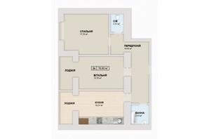 ЖК Містечко Козацьке: планировка 2-комнатной квартиры 76.6 м²