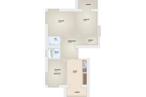ЖК Містечко Мануфактура: планировка 3-комнатной квартиры 87.6 м²