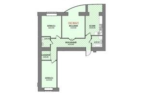 ЖК Містечко Соборне: планування 3-кімнатної квартири 85 м²