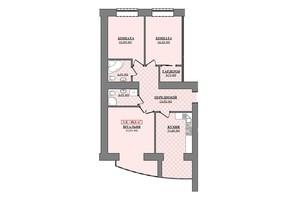ЖК Містечко Соборне: планування 3-кімнатної квартири 88 м²