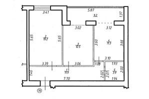 ЖК Містечко Центральне: планировка 2-комнатной квартиры 68.9 м²