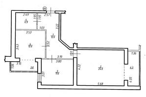 ЖК Містечко Центральне: планировка 2-комнатной квартиры 75.8 м²