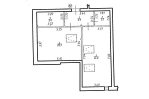 ЖК Містечко Центральне: планировка 1-комнатной квартиры 58.8 м²