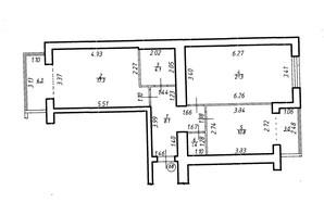 ЖК Містечко Центральне: планировка 2-комнатной квартиры 69.4 м²